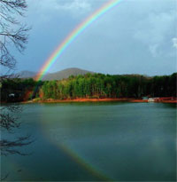 Photo of Rainbow over Lake Nottely by Scott Anna